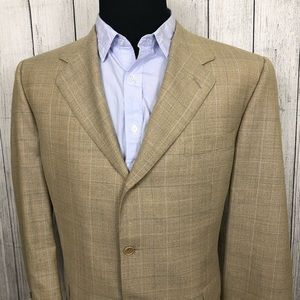 Canali 48R Tan 3-Button Italian Made Sports Coat